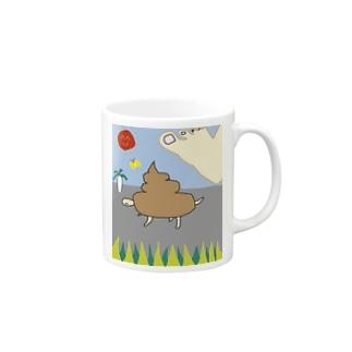 いきのびろ!うんカメくん Mugs