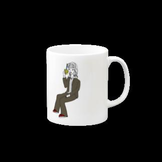 空気椅子のyu-kiちゃんマグ Mugs