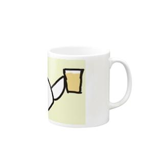 乾杯の音頭をとる白文鳥です Mugs