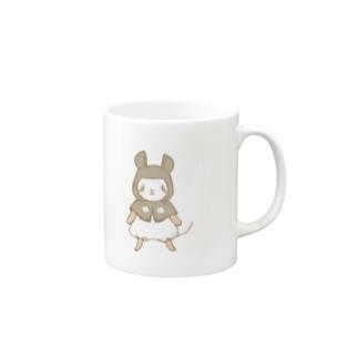 パンダマウス頭巾ノーマル背景無し Mugs