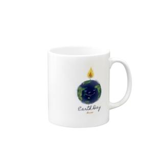 Earth Day 地球の日 Mugs