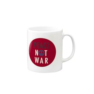 PEACE NOT WAR Mugs