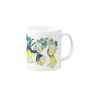 さるマグ(バナナ色) Mugs