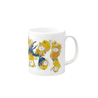 さるマグ(オレンジ) Mugs