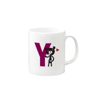 モノクマアルファベットY Mugs