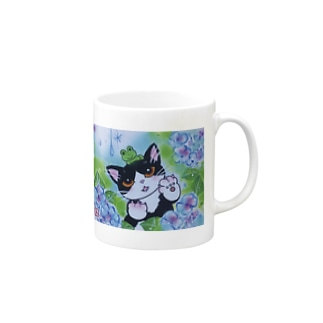 AWOJI  THE  CAT  雨がすき ! Mugs