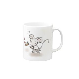 あかえほ│赤ちゃん絵本のWeb図書館 公式グッズ販売のねことねずみの喫茶店【あかえほ公式】 Mugs