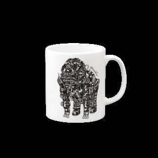"Animalia Kinky "" Black Gorilla "" マグカップ"
