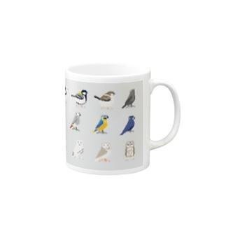 nebulianのドット鳥のグッズ Mugs