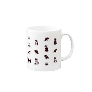 柴犬(黒柴)たくさん Mugs