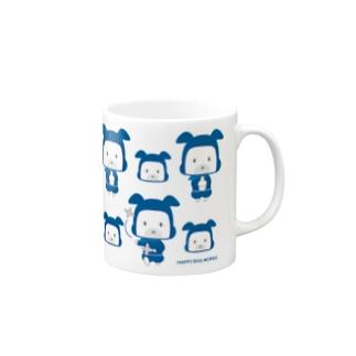 HAPPY DOG WORKS 忍者_模様A マグカップ