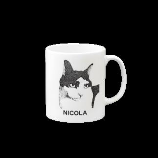ちゃっかりのニコラ(文字入り) Mugs