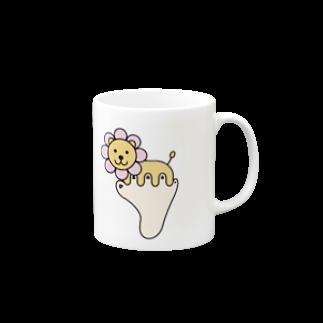 あしゆびふれんずのあしゆびらいおん(ピンク) Mugs