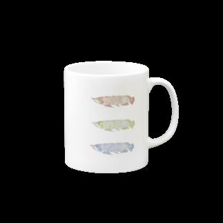 砂と鵜のアロワナさん Mugs