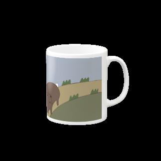 Atomatomのうさぎのさんぽみち Mugs