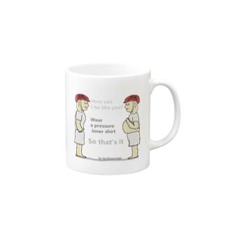 加圧シャツ Mugs