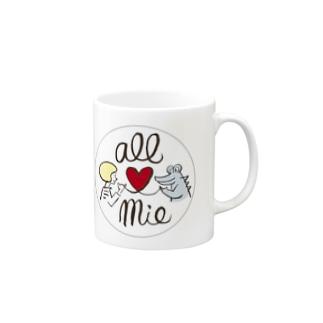 オール三重/ワニくん Mugs