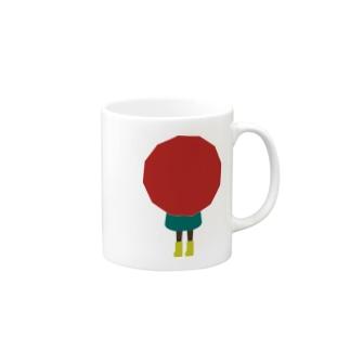 赤い傘の女の子 Mugs