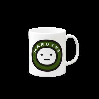 mame&coのまるいののマグカップ Mugs