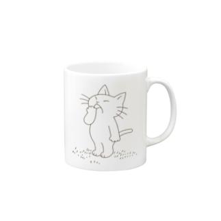 あくびねこ Mugs