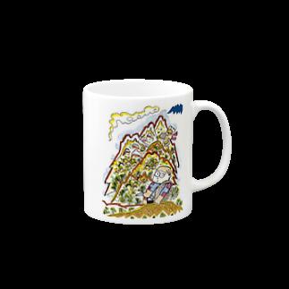 とよだ 時【ゆ-もぁ-と】の山旅漫画(2)  マグカップ