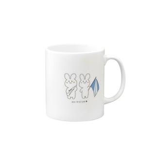 カラーガードうさぎマグ Mugs