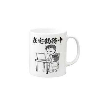 覇王堂(伊吹たかひろ)の在宅勤務中(リモートワーク) Mugs