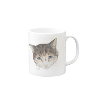 ハチワレトラのくっくさん Mugs