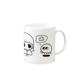 Qらげん と 外ハネ女子 Mugs
