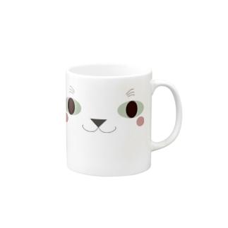 こっち見てるネコ顔 Mugs