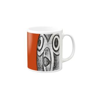 シングペンギンの顔アップ Mugs
