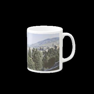 FUCHSGOLDのイタリア:チボリの風景 Italy: view of Tivoli Mugs