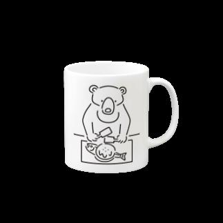 Aliviostaのお好み焼き クマ イラスト Mugs