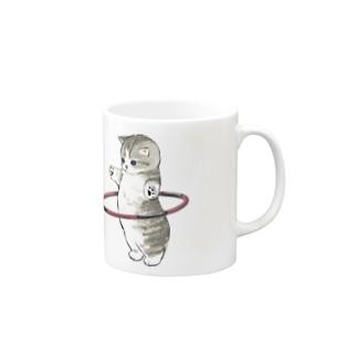 フラフープにゃん Mugs