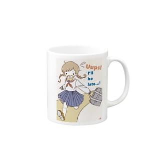 遅刻 Mugs