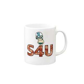 S4UMaskManロゴあり Mugs