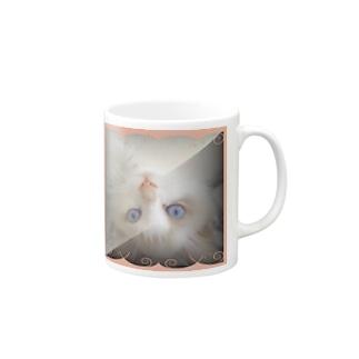 逆さニャンコ(プリン) Mugs
