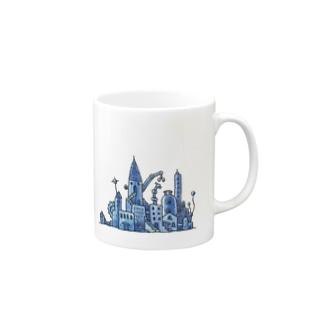 青い街 Mugs