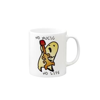 土偶をかき鳴らすハニワです Mugs