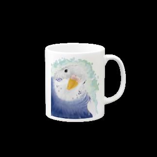 セキセイインコ オパーリン大【まめるりはことり】 マグカップ