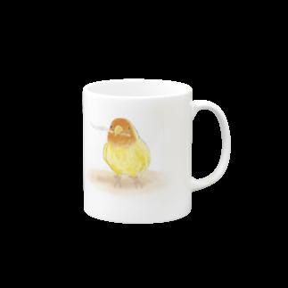 コザクラインコ レイ【まめるりはことり】 マグカップ