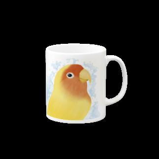 コザクラインコ ルチノー【まめるりはことり】 マグカップ