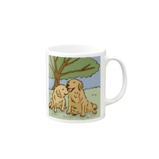 木漏れ日和のゴールデンレトリーバー Mugs