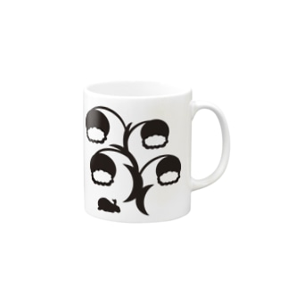 白黒草兎b Mugs