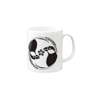 ぶんちょ組家紋風(桜) Mugs