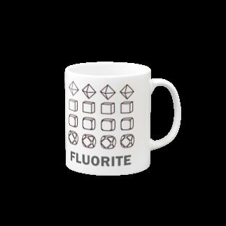 クリスタルポケットの鉱式-RECTANGLE.crystallogram5.1black-fluorite マグカップ