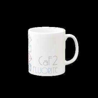クリスタルポケットの鉱式-SQUARE.crystallogram8.1multi-fluoriteマグカップ