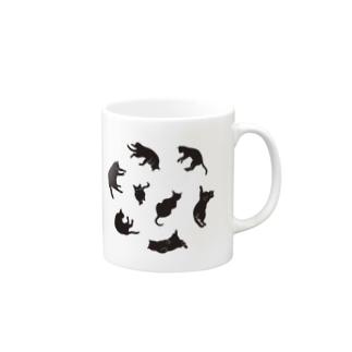 Kitties (Black Mugs