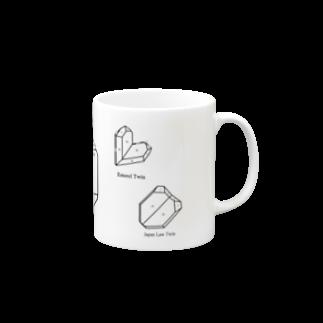 クリスタルポケットの鉱式-RECTANGLE.crystallogram6.1black-Quartz_twin_variety マグカップ