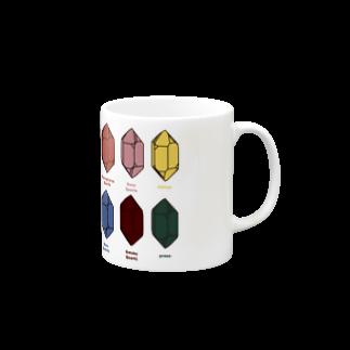 クリスタルポケットの鉱式-SQUARE.crystallogram5.3blackpaint-quartz マグカップ